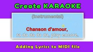 Adding Lyrics to midi file - create karaoke
