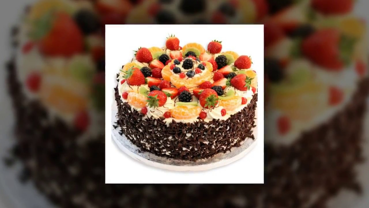 Top Birthday Cake Fresh Fruit Cake Decoration Youtube