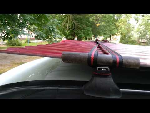 Как правильно закрепить профнастил на багажнике