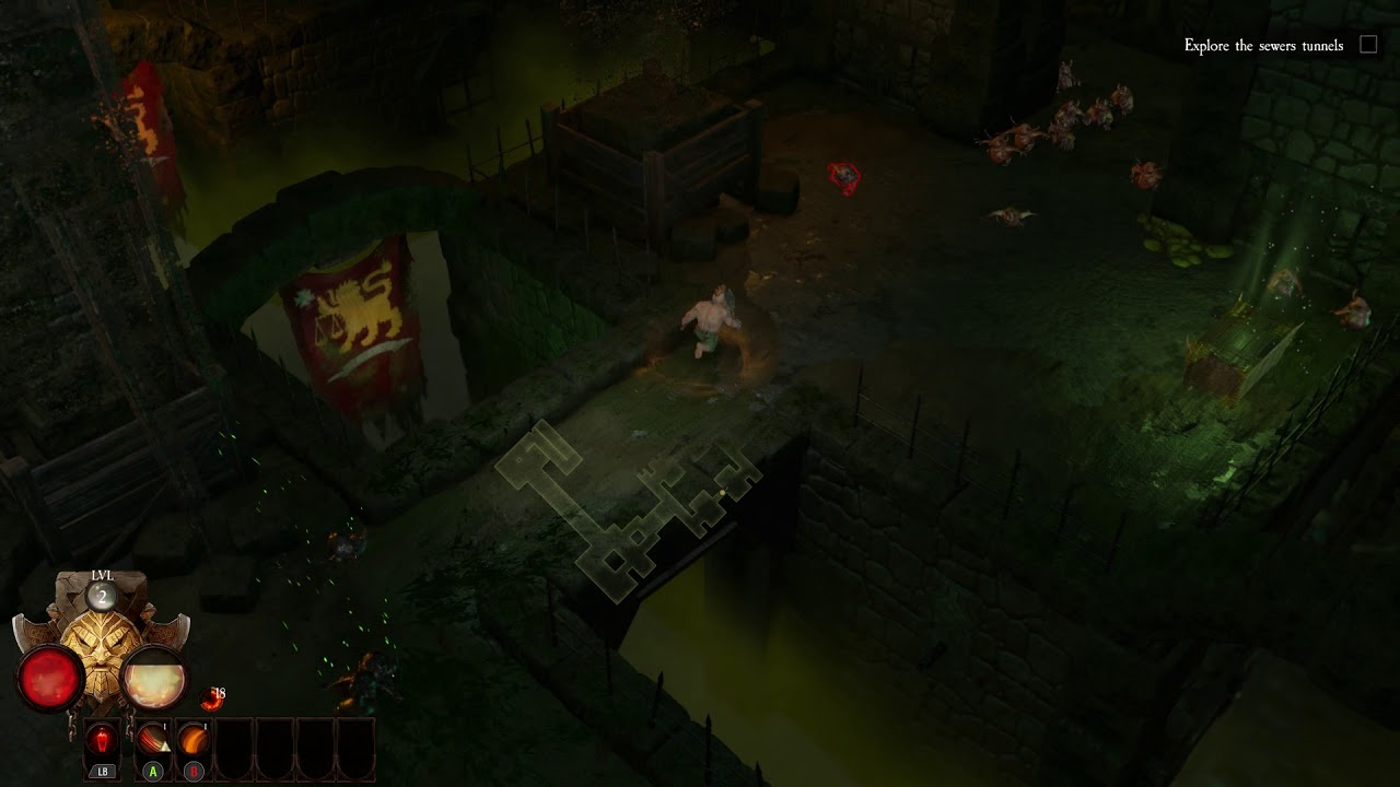 Warhammer: Chaosbane - Chapter 1 Descent Into Darkness: Explore Sewers:  Cultists Fight, Loot (2019)