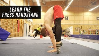 How to do the Press Handstand!!