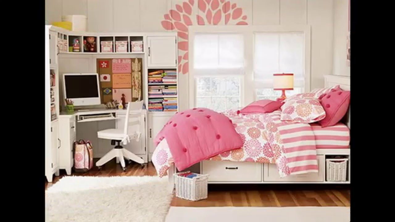 Teenage girl bedroom ideas for small rooms youtube for Bedroom ideas for a small room for a teenager