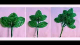 Бисероплетение Цветы пионы из бисера мастер класс со схемой плетения