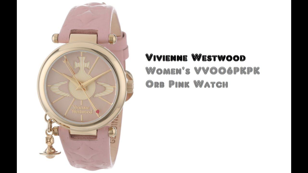 65988df36a Vivienne Westwood VV006PKPK Orb Pink Watch - YouTube
