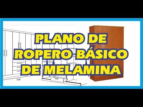Plano de ropero b sico de melamina youtube for Plano ropero melamina