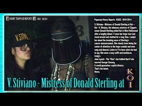 V. Stiviano - Mistress of Donald Sterling dances & Sings & Talks about Sterling