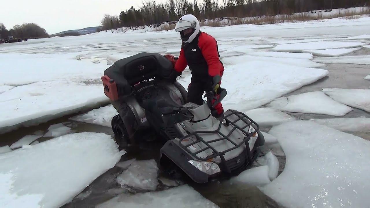 Прыгаем по льдинам на квадроциклах CFMOTO. Покатушка в Федоровку.