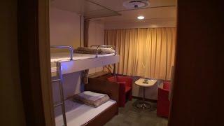 太平洋フェリー きたかみの船首側1等客室(洋室)を撮ってみた thumbnail
