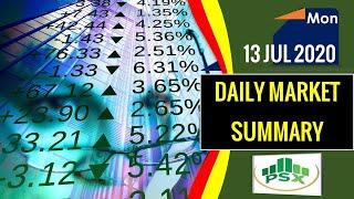 Pakistan Stock Market Summary ||Today Video Review |13 Jul 20 |#psxanalysissummary #psxmarketsummary