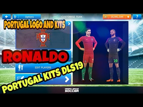 HOW TO IMPORT PORTUGAL LOGO AND KITS IN DREAM LEAGUE SOCCER 2019