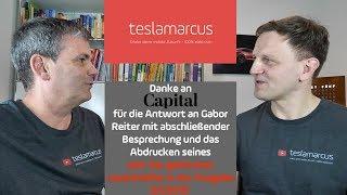 Capital antwortet an Gabor Reiter persönlich und veröffentlicht den Leserbrief in guter Kurzform