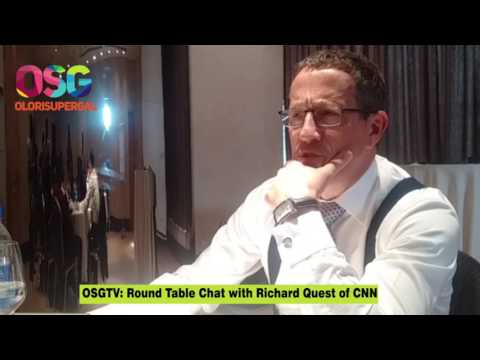Richard Quest of CNN's Round Table Talk with Olorisupergal tv in Nigeria - Latest 2017 news