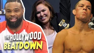 Tyron Woodley Says He Belongs In The UFC Hall of Fame, But Not Nate Diaz | The Hollywood Beatdown
