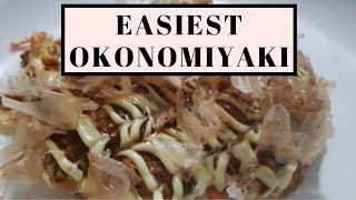 Super Easy Okonomiyaki (No Special Ingredients Needed) 【優しいお好み焼き】