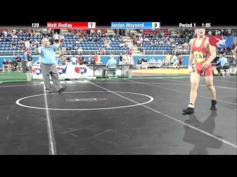 Fargo 2012 120 Round 2: Matt Findlay (Utah) vs. Jordan Maynard (New York)