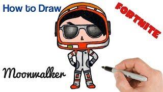 How to Draw Moonwalker Fortnite Art Tutorial