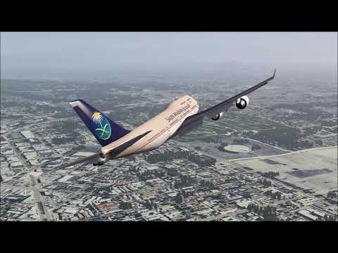 SAUDIA 747-400 Crash after Take Off Los Angeles ++ Aerofly FS 2