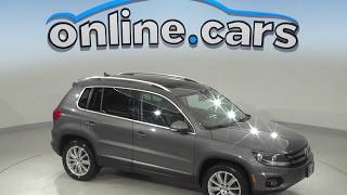 C10060JA Used 2014 Volkswagen Tiguan AWD Gray Test Drive, Review, For Sale