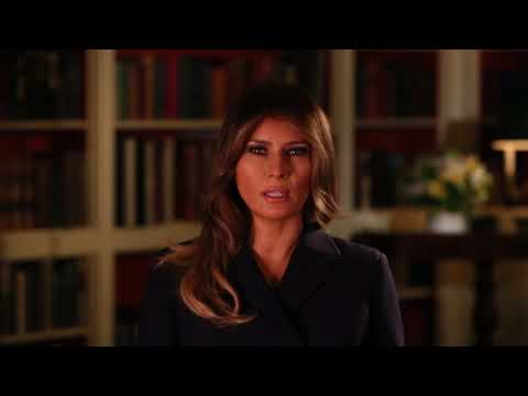 First Lady Melania Trump - Hurricane Relief PSA
