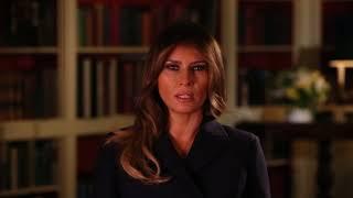 First Lady Melania Trump - Hurricane Relief PSA