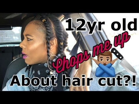 Vlog-12 Year Old chops me up about a  haircut?!
