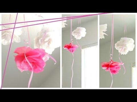 DIY Room Decor: Tissue Paper Roses