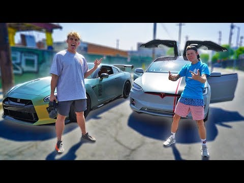 TRADING SUPERCARS WITH JAKE PAUL! + STREET RACE