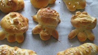 Petits pains briochés, sans pétrissage et sans MAP (No -Knead Brioche)