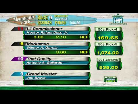 video thumbnail for MONMOUTH PARK 09-04-20 RACE 9