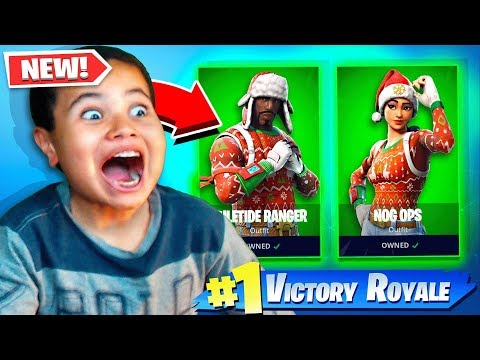 MY LITTLE BROTHERS REACTION TO THE NOG OPS COMING BACK!! *SURPRISING HIM!* FORTNITE INSANE REACTION!