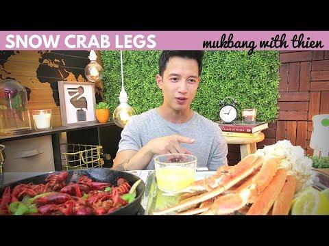 [mukbang/cookbang with THIEN]: SNOW CRAB LEGS 🦀 & CRAWFISH 🦐 (SEAFOOD)