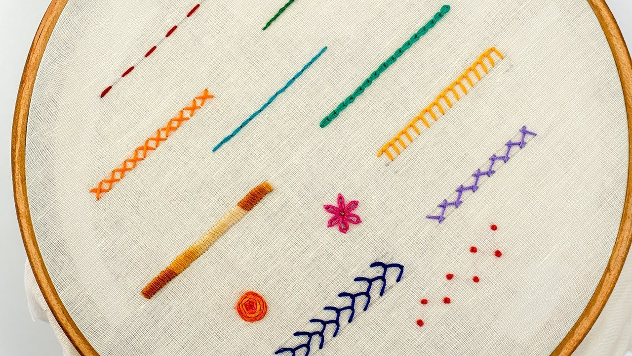 Download TOP 12 STITCHES IN HAND EMBROIDERY | Tutorial for Beginners