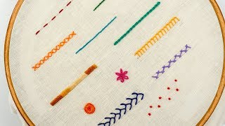 Gambar cover TOP 12 STITCHES IN HAND EMBROIDERY | Tutorial for Beginners