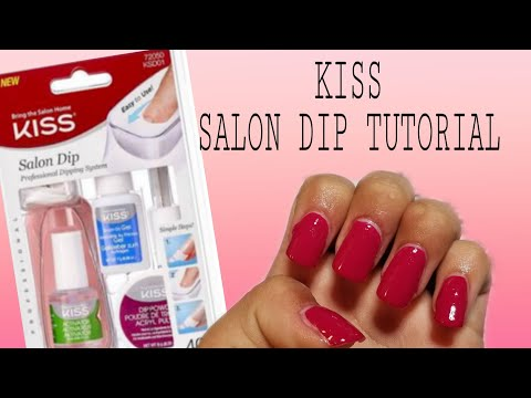 Kiss acrylic nail dip system   Tutorial. UPDATED VIDEO LINK IN THE DESCRIPTION BOX 😊 thumbnail