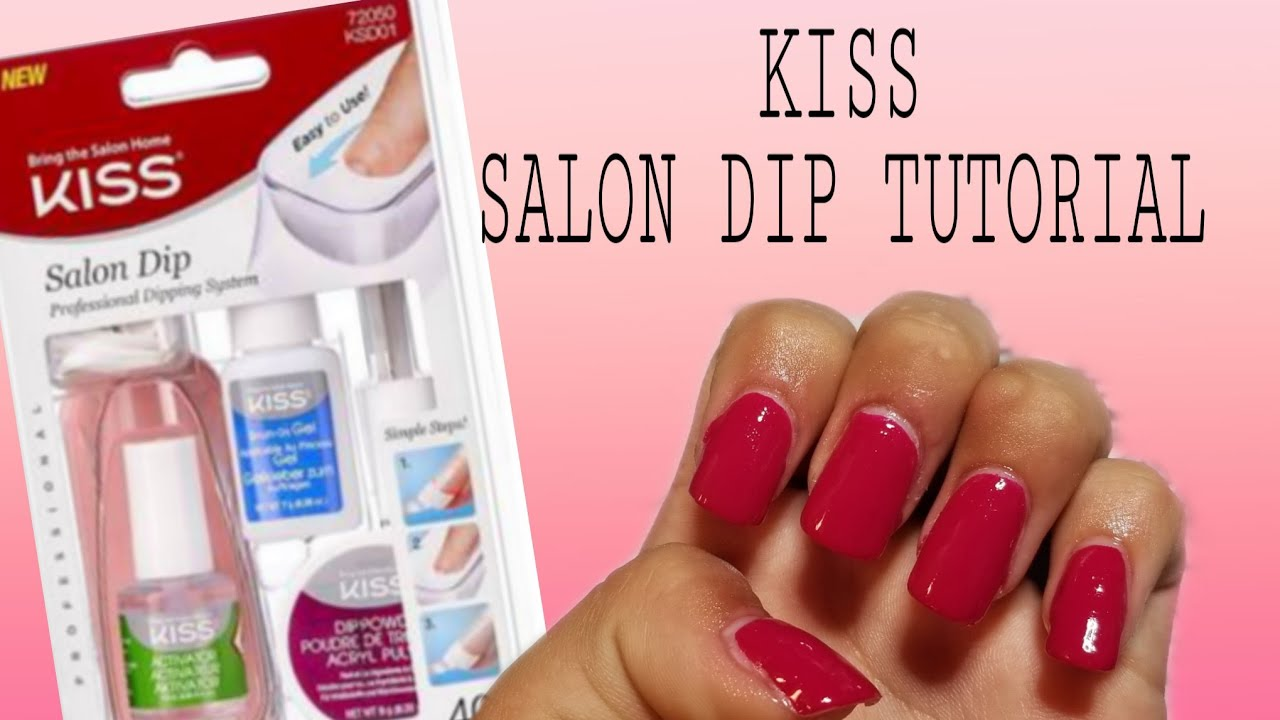 Kiss acrylic nail dip system | Tutorial  UPDATED VIDEO LINK IN THE  DESCRIPTION BOX 😊