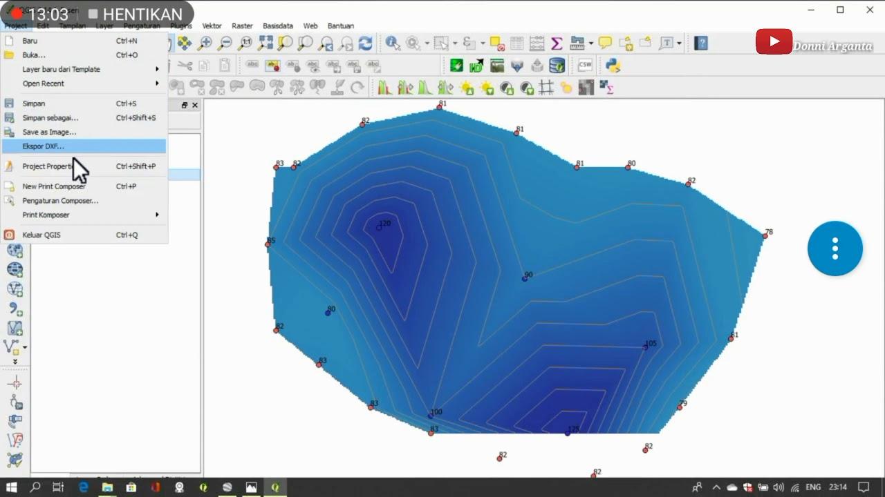 Cara membuat peta kedalaman muka air menggunakan QGIS ...