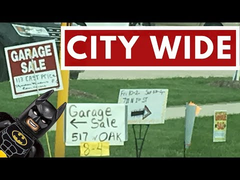 City Wide Garage Sale  - Adding to my Batman Collection  - Scrap Metal Scores - Shane Man TV