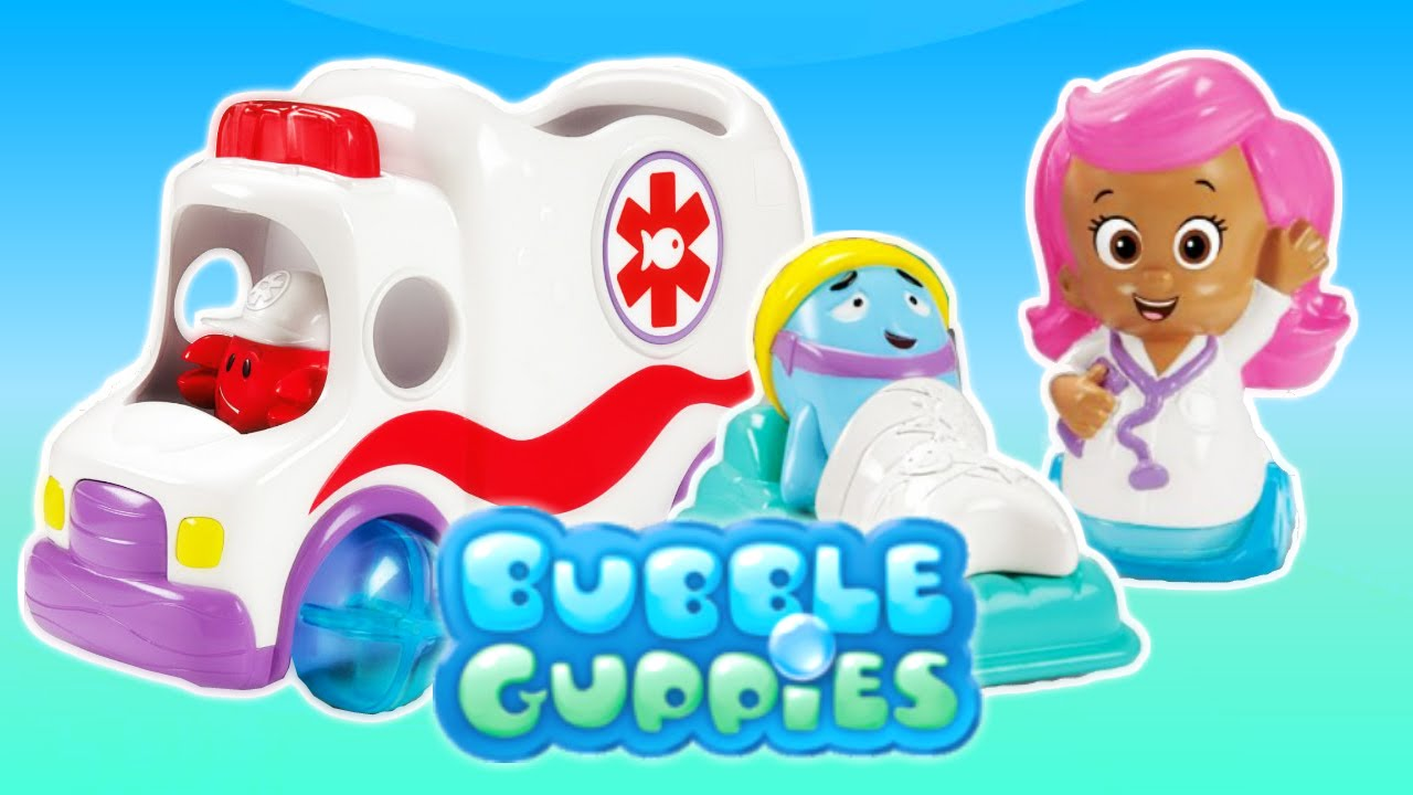 fisher-price bubble guppies 🚑 deluxe vehicle clambulance with ... - Cucina Fisher Price