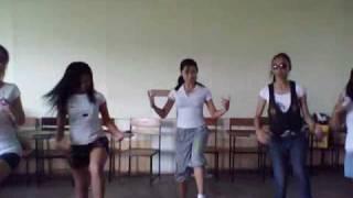 Jai ho, jumbo hotdog, single ladies, igiling giling(different types of dance combined.)