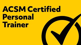 Free ACSM Certified Personal Trainer Study Guide