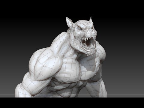 Wireframe Render Zbrush