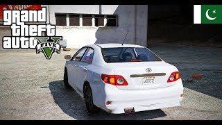 GTA 5 Pakistan - GTA V Real life Mod Logitech G29 Steering Wheel Drive of 'Toyota Corolla 2010