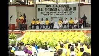 62nd Founding Anniversary of Occidental Mindoro (Speech) 11/15/2012
