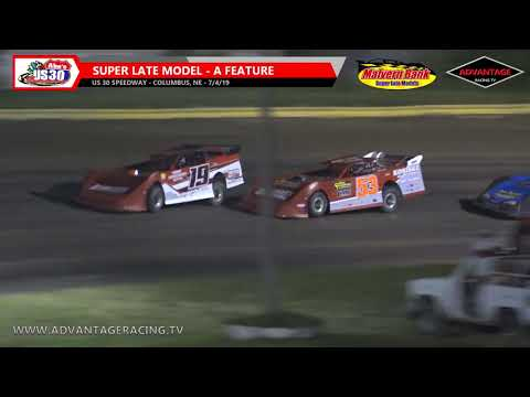 Super Late Model Feature - US 30 Speedway - 7/4/19