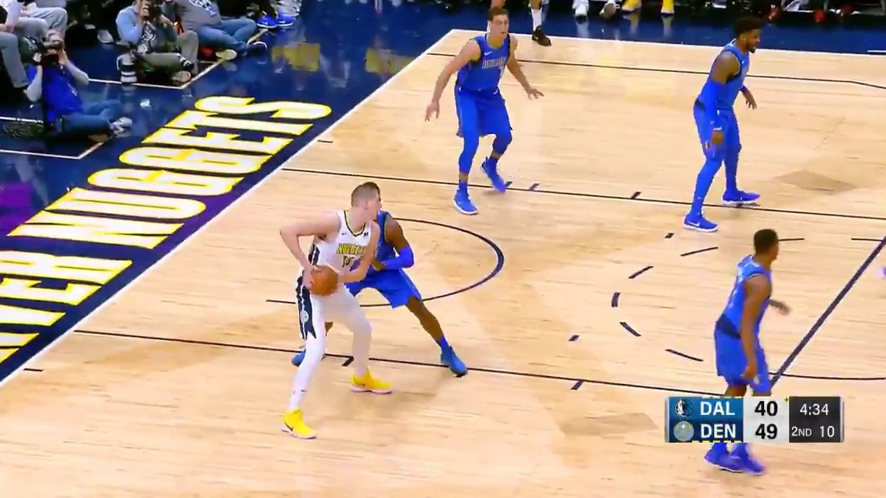 Nikola Jokic  no look pass behind the back is  Assist Of The Night!