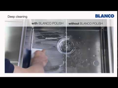 How to clean and care for a BLANCO stainless steel sink