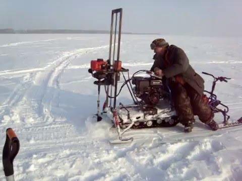Снегоход Хаски и  Мотобур