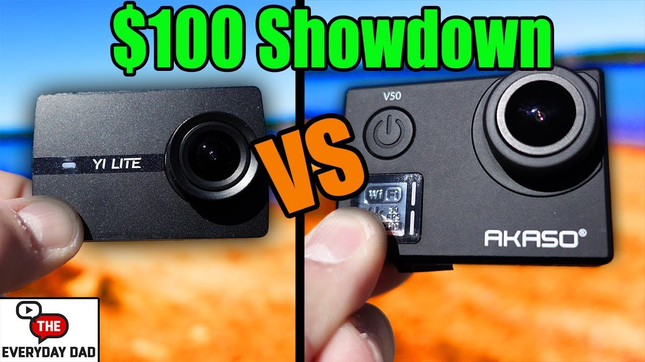 BATTLE OF THE BUDGET ACTION CAMERAS! Yi Lite VS Akaso V50! Reviewing the  cheapest!