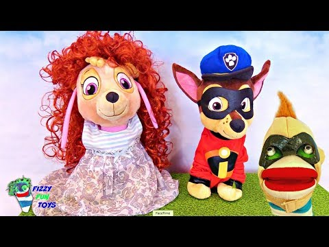Learning Video for Kids Fizzy Plays Dress Up With Baby Paw Patrol Pups