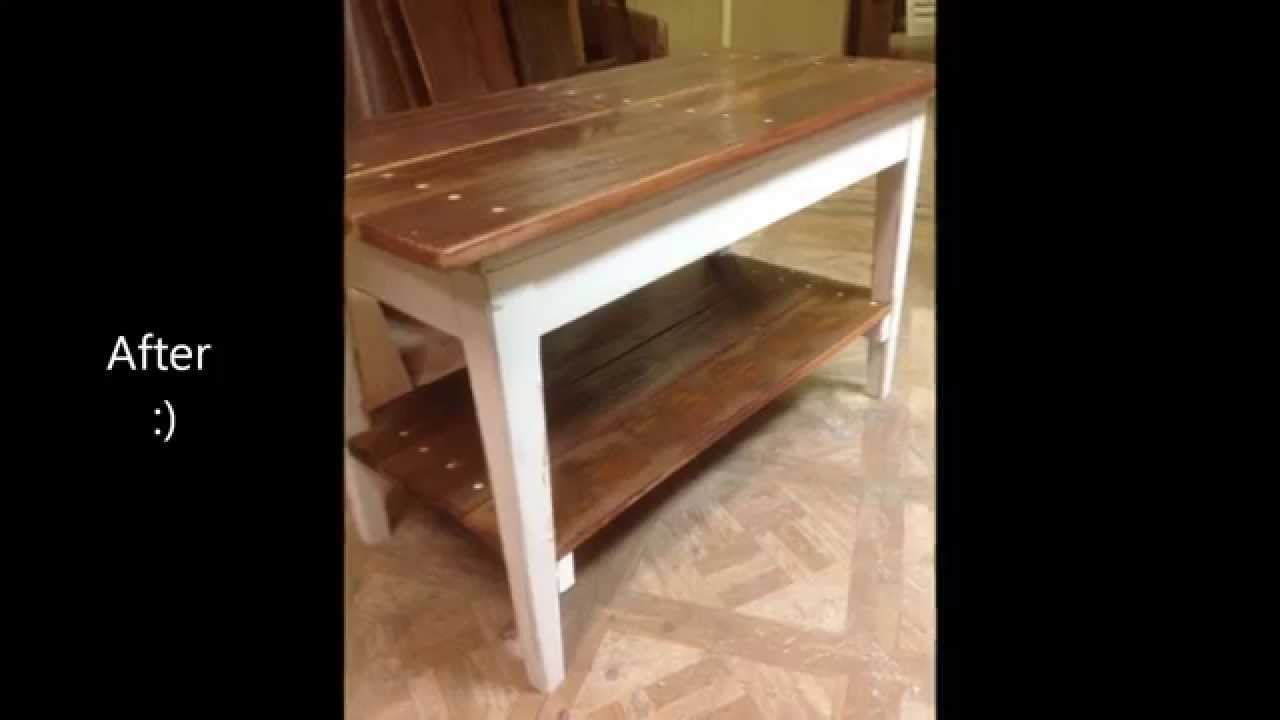 Diy Project Make A Coffee Table With Storage From Piano Bench Fun Build All Experience Levels You